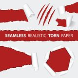 Realistyczni Bezszwowi Drzejący papieru i narysu pazury Zdjęcie Stock