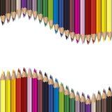 Realistyczni kolorów ołówki ustawiający Fotografia Royalty Free