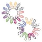 Realistyczni kolorowi sportów gumshoes Zdjęcia Royalty Free