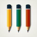Realistyczni szczegółowi zapraweni ołówki odizolowywający na białym tle 10 eps ilustracyjny osłony wektor Zdjęcie Royalty Free
