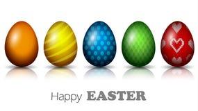 Realistyczni Wielkanocni jajka z Różną teksturą 3d ilustracja wektor royalty ilustracja