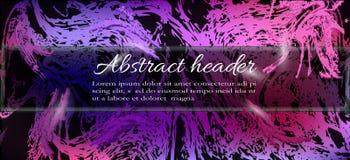 Realistyczny abstrakcjonistyczny chodnikowiec, sztandar, tło dla projekta w purp royalty ilustracja