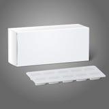 Realistyczny biały pustego papieru medycyny pakunku pudełko ilustracja wektor