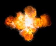 Realistyczny bombowy wybuchu psuć Zdjęcia Royalty Free