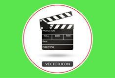 Realistyczny clapper kino 3d tła deski wizerunku biel Film Czas również zwrócić corel ilustracji wektora Obrazy Royalty Free