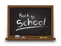 Realistyczny czarny koloru chalkboard z drewnianą ramą Szczegółowa tekstura na blackboard i krawędzi Opróżnia deskę dla pełni twó Obrazy Stock