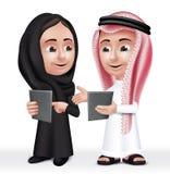 Realistyczny 3D arab Żartuje charakterów chłopiec i dziewczyna Fotografia Stock