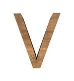 Realistyczny Drewniany list V odizolowywający na białym tle zdjęcia stock