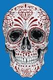 Realistyczny dzień Nieżywa Cukrowa czaszka Zdjęcia Royalty Free