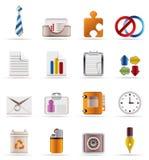 realistyczny ikony biznesowy biuro Obraz Stock