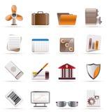 realistyczny ikony biznesowy biuro Obraz Royalty Free