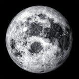 Realistyczny księżyc w pełni Zdjęcia Stock