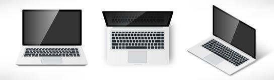 Realistyczny laptopu set ilustracji