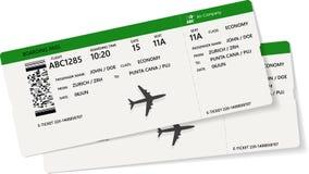 Realistyczny linia lotnicza abordażu lub bileta przepustki projekt royalty ilustracja