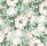 Realistyczny odosobniony kwiatu wzór Rocznika baroku tło Różany dogrose, rosehip, brier wally Rysunkowy rytownictwo ilustracja wektor