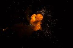 Realistyczny ognisty wybuch Obraz Royalty Free