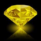 Realistyczny olśniewający żółty topazowy klejnot Zdjęcia Royalty Free