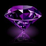 Realistyczny olśniewający purpurowy ametystowy klejnot Zdjęcia Royalty Free