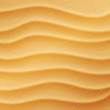 Realistyczny plażowy piaska tło ilustracji