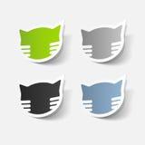 Realistyczny projekta element: kot Zdjęcie Royalty Free