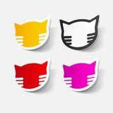 Realistyczny projekta element: kot Fotografia Royalty Free
