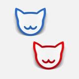 Realistyczny projekta element: kot Obrazy Royalty Free
