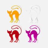 Realistyczny projekta element: kot Obrazy Stock