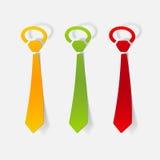 Realistyczny projekta element: krawat Obraz Royalty Free