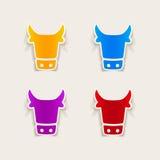 Realistyczny projekta element: krowa Obraz Stock