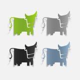 Realistyczny projekta element: krowa Obraz Royalty Free