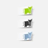 Realistyczny projekta element: krowa Zdjęcie Royalty Free
