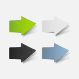 Realistyczny projekta element: strzała Obrazy Stock