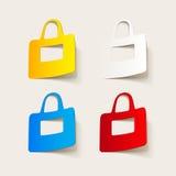 Realistyczny projekta element: torba Zdjęcie Royalty Free