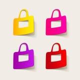 Realistyczny projekta element: torba Fotografia Royalty Free