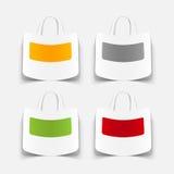 Realistyczny projekta element: torba Obrazy Stock