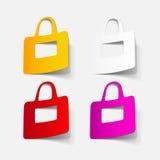 Realistyczny projekta element: torba Zdjęcia Royalty Free