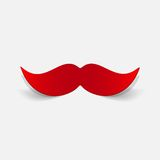 Realistyczny projekta element: wąsy Fotografia Stock
