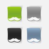 Realistyczny projekta element: wąsy Obrazy Stock
