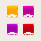 Realistyczny projekta element: wąsy Obrazy Royalty Free