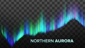 Realistyczny skład Północny zorza wektor ilustracji