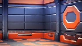 realistyczny statku kosmicznego fantastyka naukowa korytarz, 3D odpłaca się ilustracja wektor