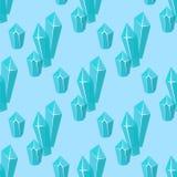 Realistycznych czap lodowa snowdrifts tła bezszwowi deseniowi sople łamający kawałka kawałka gomółki zimno marznąca blokowa kryst royalty ilustracja