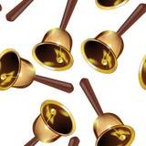 Realistycznych dzwonów bezszwowy wzór, przejrzysty tło Fotografia Stock