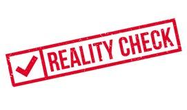 Realitätsprüfungsstempel Stockbild