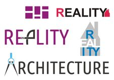 Reality and architecture logos Royalty Free Stock Photo