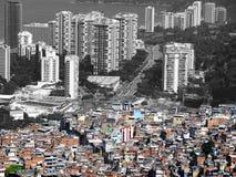 Crowded city of Rio de Janeiro. Tall skyscrapers and crowded buildings of Rio de Janeiro, Brazil Royalty Free Stock Image