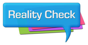 Reality Check Blue Colorful Comment Symbol Stock Image