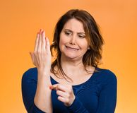 Reality check gesture Royalty Free Stock Photo