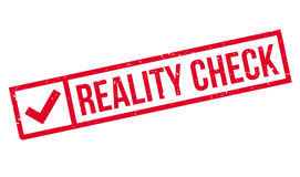 Reality Check rubber stamp Stock Image