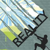 Reality and the digital world. Clearing the virtual world. Vector format royalty free illustration